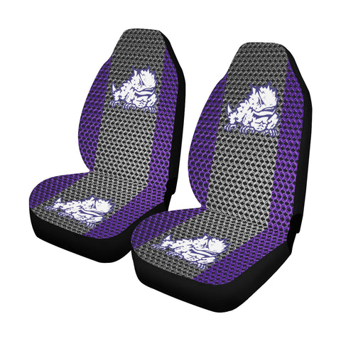 Fort Worth University Chain Link Car Seat Covers (Set of 2)