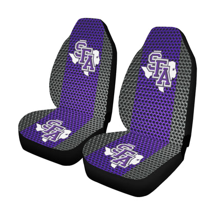 Nacogdoches University Chain Link Car Seat Covers (Set of 2)