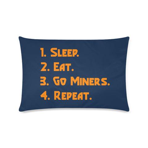 "El Paso University ""Checklist"" Rectangle Pillow Case (Twin, Full, Queen, or King)"