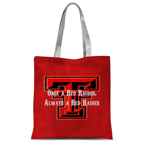 "Lubbock University ""Once a Red Raider, Always a Red Raider"" Sublimation Tote Bag"