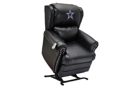 Dallas Cowboys Coach Leather Lift Chair