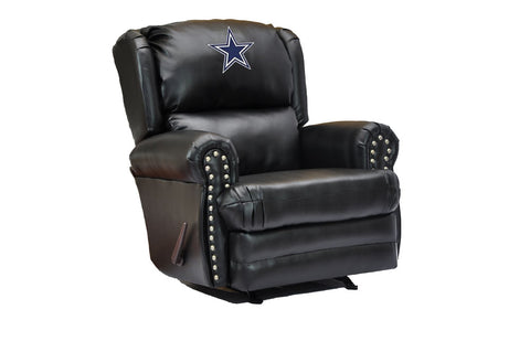 Dallas Cowboys Coach Leather Recliner