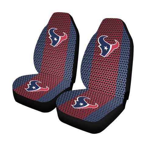 Houston Football Chain Link Car Seat Covers (Set of 2)