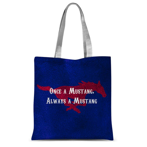 "Dallas Methodist University ""Once a Mustang, Always a Mustang"" Sublimation Tote Bag"