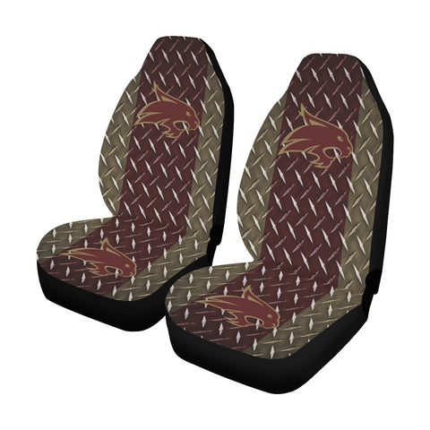 San Marcos University Diamond Plate Car Seat Covers (Set of 2)