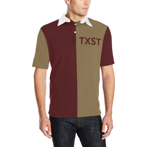San Marcos University Three-Tone Men's Polo Shirt