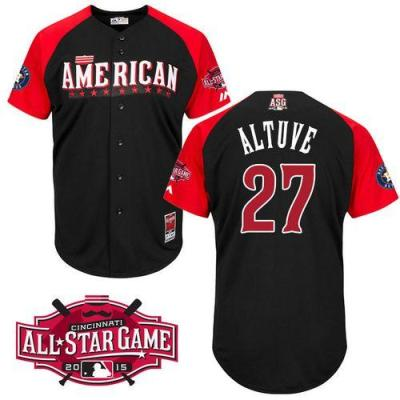 Houston Astros #27 Jose Altuve Black 2015 All-Star American League Stitched Baseball Jersey