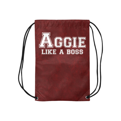 "College Station University ""Like a Boss"" Drawstring Bag - Maroon"