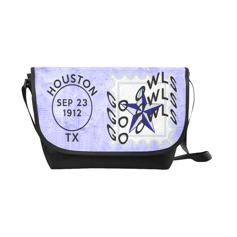 Blue Houston University Postmark Nylon Cross-Body Messenger Bag (black or brown)