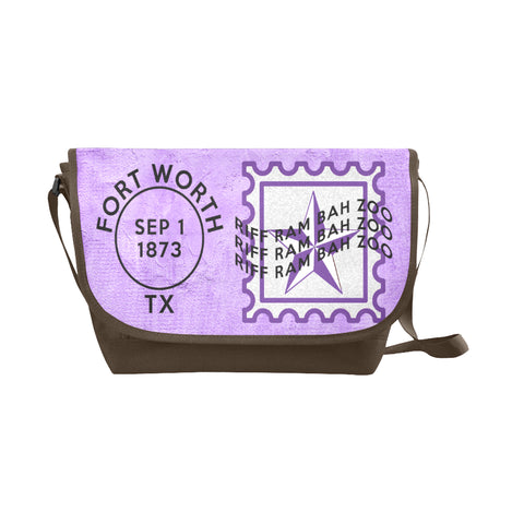 Fort Worth University Postmark Nylon Cross-Body Messenger Bag (black or brown)