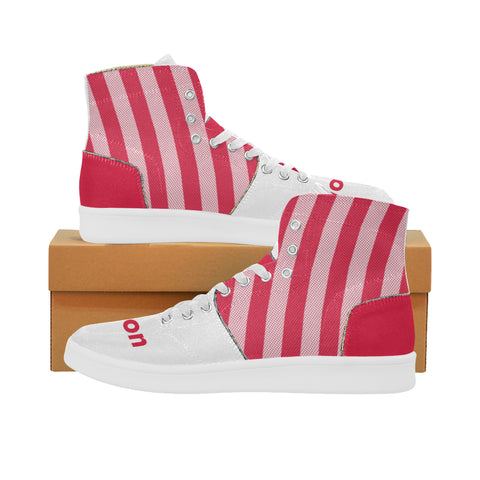 Houston Basketball Supreme Stripes Oxford Men's Retro Canvas Sneakers