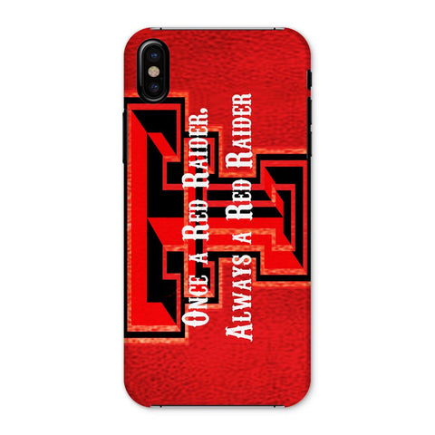 "Lubbock University ""Once a Red Raider, Always a Red Raider"" Phone Case"