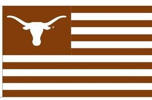 Texas Longhorns: Stripes and Longhorns USA Flag