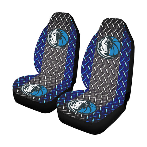 Dallas Basketball Diamond Plate Car Seat Covers (Set of 2)