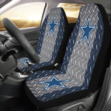 Dallas Football Diamond Plate Car Seat Covers (Set of 2)