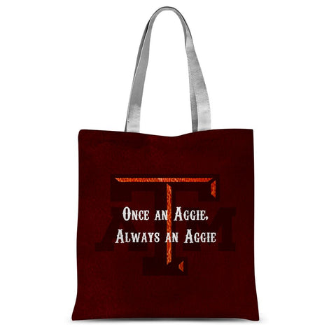 "College Station University ""Once an Aggie, Always an Aggie"" Sublimation Tote Bag"
