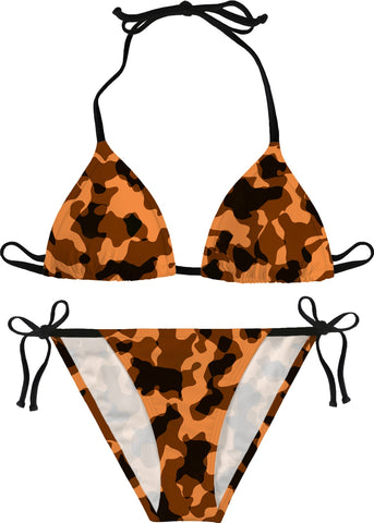 Austin University Orange Camouflage Bikini - Handmade & Made on-Demand