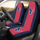 Houston Football Solid Colors Car Seat Covers (Set of 2)