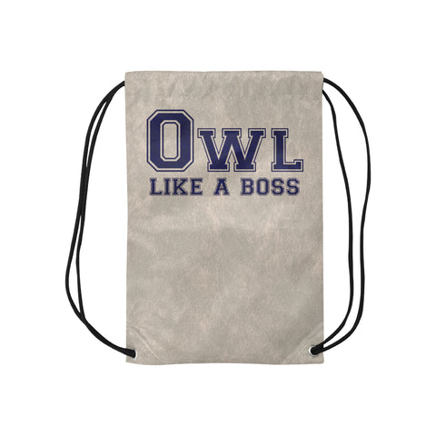 "Blue Houston University ""Like a Boss"" Drawstring Bag - Gray"