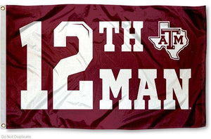 "Texas A&M Aggies: 12th Man Flag; Various sizes from 8""x12"" to 6'x10'"