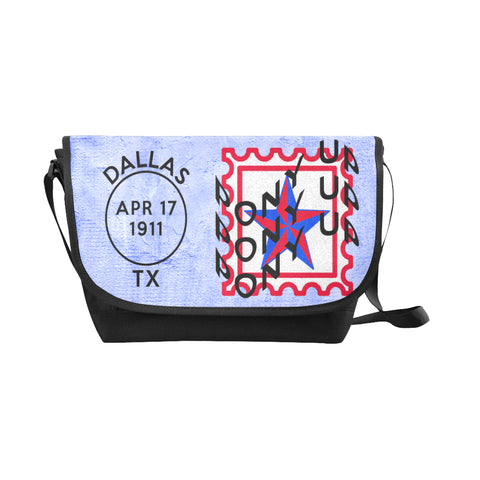 Dallas Methodist University Postmark Nylon Cross-Body Messenger Bag (black or brown, red or blue)