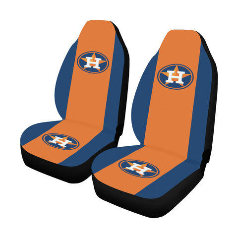 Houston Baseball Solid Colors Car Seat Covers (Set of 2)