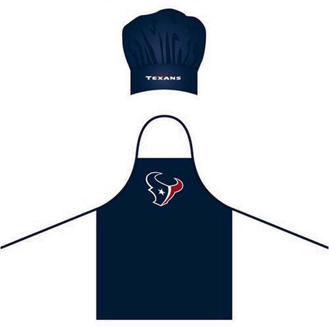 Dallas Cowboys OR Houston Texans: Chef Hat and Apron Set (one size)