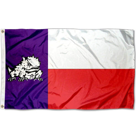 TCU Horned Frogs 3' x 5' State of Horned Frog Texas Flag