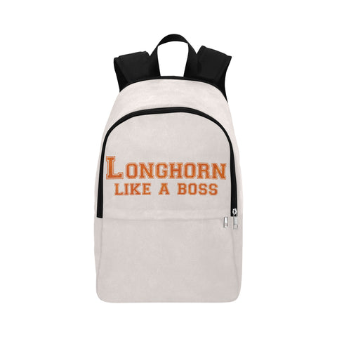 "Austin University ""Like a Boss"" Backpack - White"