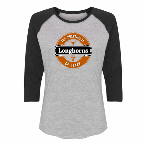 Texas Longhorns: Ladies' Lager Label-Inspired Raglan T-Shirt