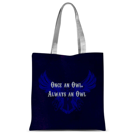 "Blue Houston University ""Once an Owl, Always an Owl"" Sublimation Tote Bag"