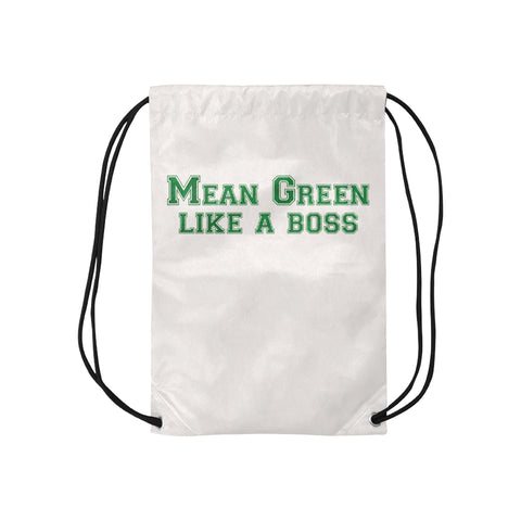 "Denton University ""Like a Boss"" Drawstring Bag (S, M, L) - White"