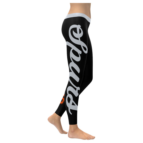 San Antonio Basketball All-Over Low Rise Leggings: 2XS - 5XL Available