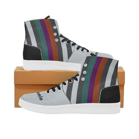 San Antonio Basketball Supreme Stripes Oxford Men's Retro Canvas Sneakers
