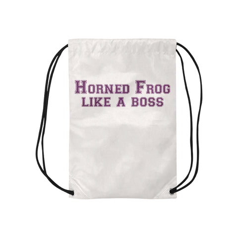 "Fort Worth University ""Like a Boss"" Drawstring Bag - White"