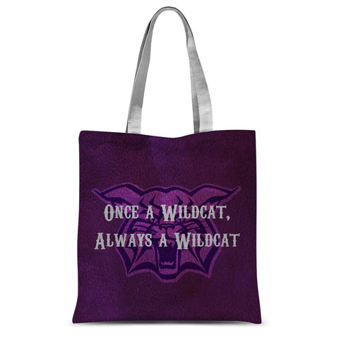 "Abilene Christian University ""Once a Wildcat, Always a Wildcat"" Sublimation Tote Bag"