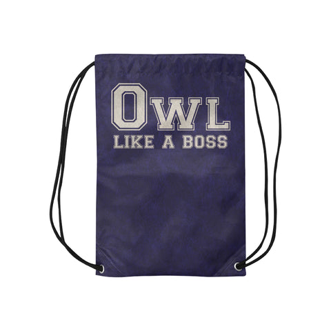 "Blue Houston University ""Like a Boss"" Drawstring Bag - Blue"