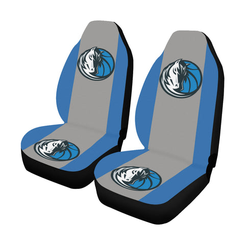 Dallas Basketball Solid Colors Car Seat Covers (Set of 2)