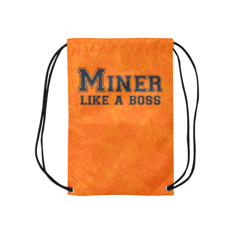 "El Paso University ""Like a Boss"" Drawstring Bag - Orange"