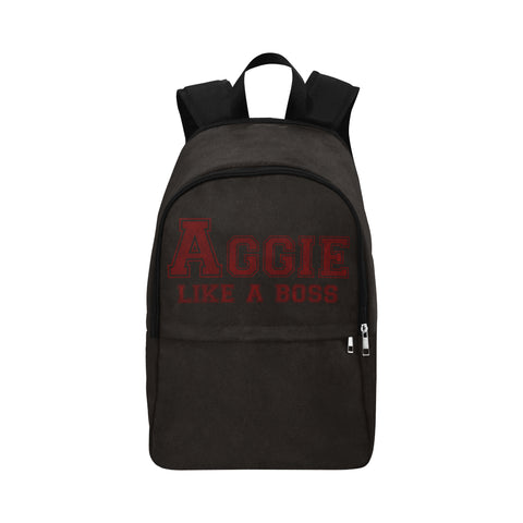 "College Station University ""Like a Boss"" Backpack - Black"