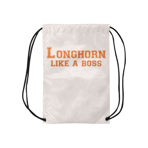 "Austin University ""Like a Boss"" Drawstring Bag - White"