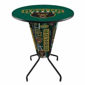 "NCAA & NHL Teams' Lighted 42"" Black Pub Table by Holland Bar Stool Co. (Baylor, Stars, TCU, Texas A&M, Texas State, Texas Tech, U of H)"