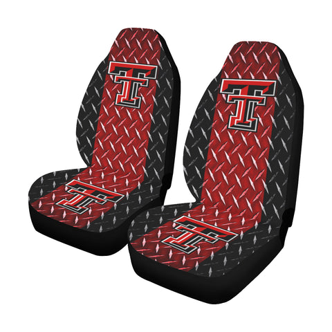 Lubbock University Diamond Plate Car Seat Covers (Set of 2)