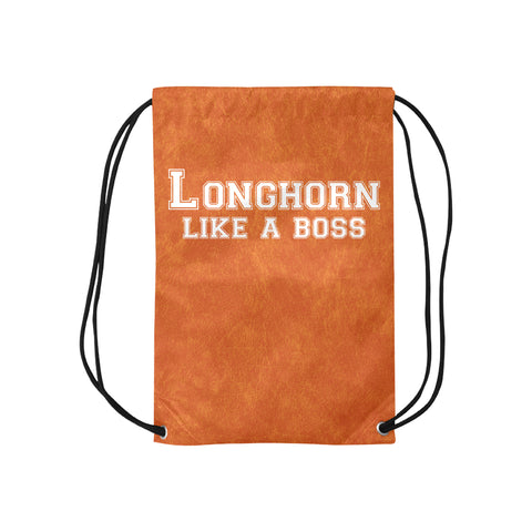 "Austin University ""Like a Boss"" Drawstring Bag - Orange"