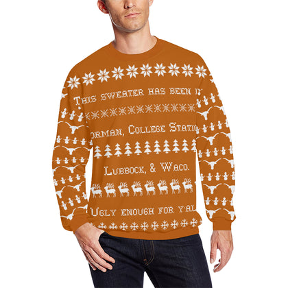 Austin University Men's Ugly Christmas Sweater; 6 variants available