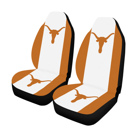 Austin University Solid Colors Car Seat Covers (Set of 2)