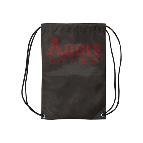 "College Station University ""Like a Boss"" Drawstring Bag - Black"
