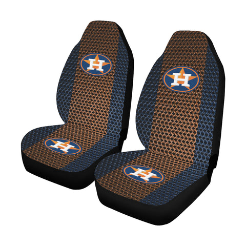 Houston Baseball Chain Link Car Seat Covers (Set of 2)