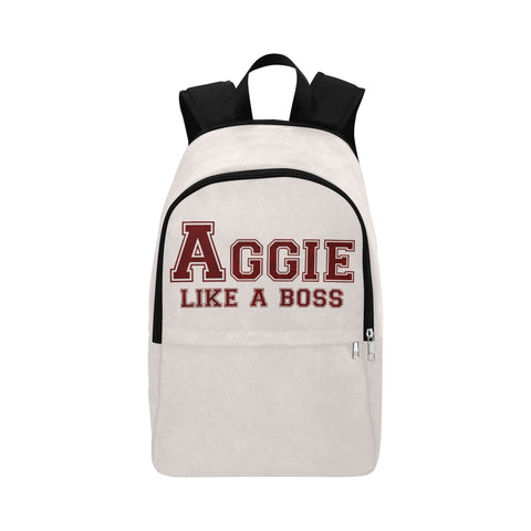 "College Station University ""Like a Boss"" Backpack - White"