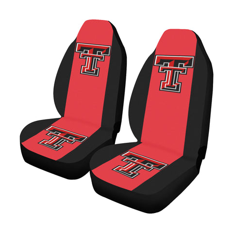 Lubbock University Solid Colors Car Seat Covers (Set of 2)